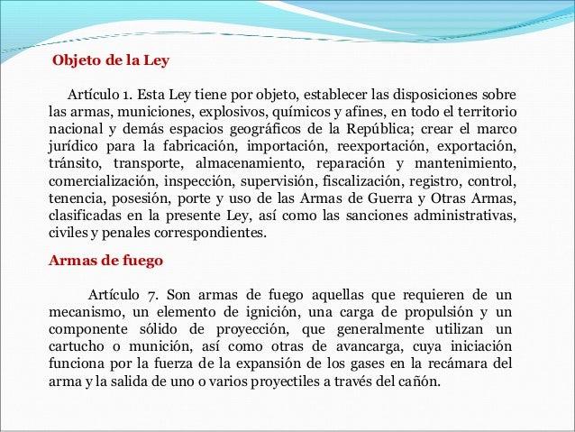 Presentaci n ley sobre los delitos informaticos y la ley for Porte y tenencia de armas de fuego en republica dominicana