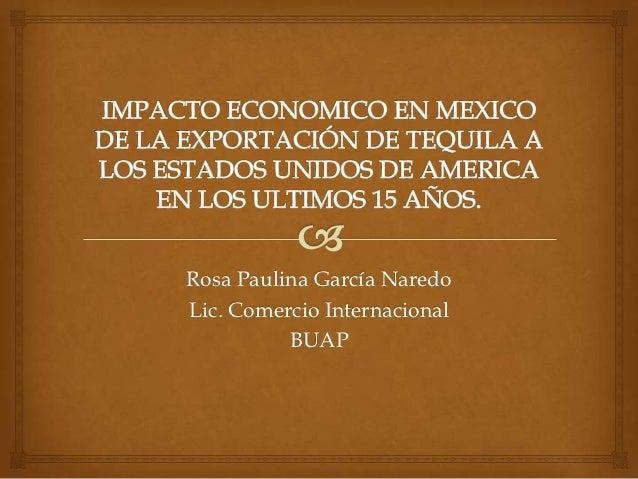 Rosa Paulina García NaredoLic. Comercio Internacional          BUAP