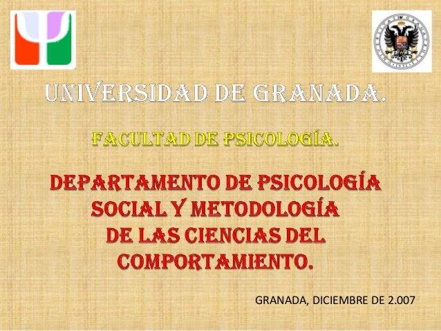 GRANADA, DICIEMBRE DE 2.007