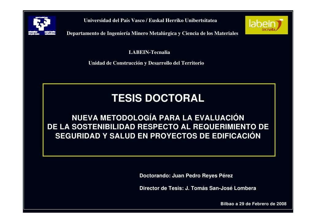 Universidad del País Vasco / Euskal Herriko Unibertsitatea      Departamento de Ingeniería Minero Metalúrgica y Ciencia de...