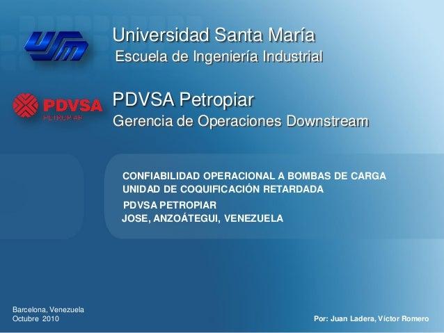 Universidad Santa María                       Escuela de Ingeniería Industrial                       PDVSA Petropiar      ...
