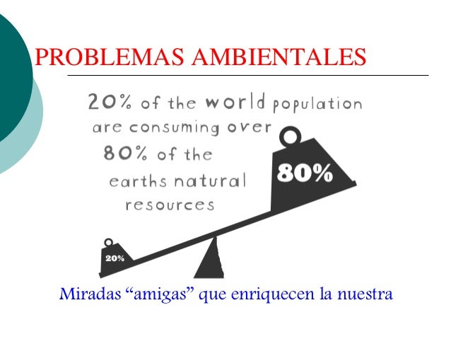 """PROBLEMAS AMBIENTALES Miradas """"amigas"""" que enriquecen la nuestra"""