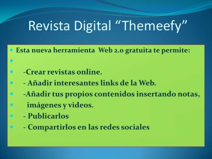 "Revista Digital ""Themeefy"""