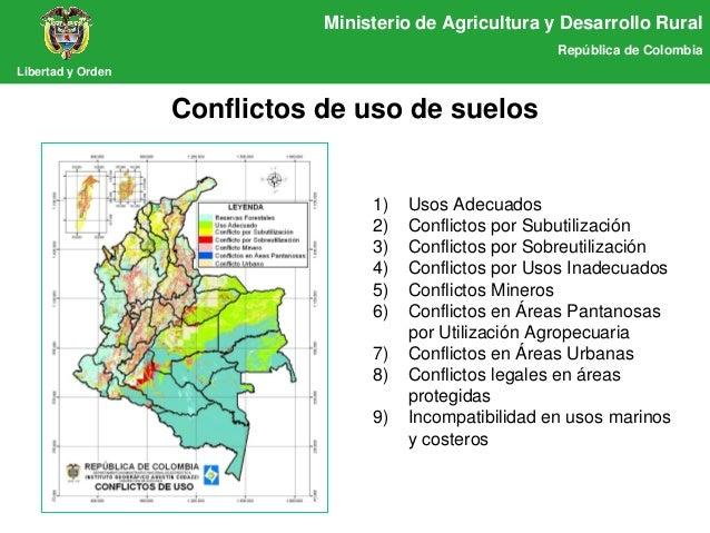 Presentaci n tierras madr for 4 usos del suelo en colombia