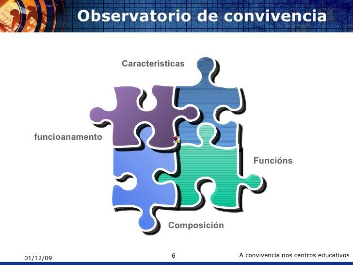 Observatorio de convivencia Funcións  funcioanamento Caracteristicas Composición