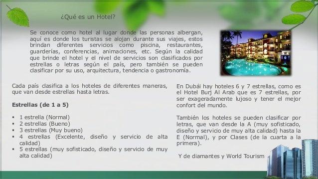 Tipos de hoteles for Tipos de servicios de un hotel