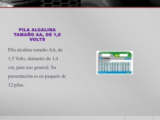 Presentaci n tipos de pilas y sus voltajes for Tamanos de pilas
