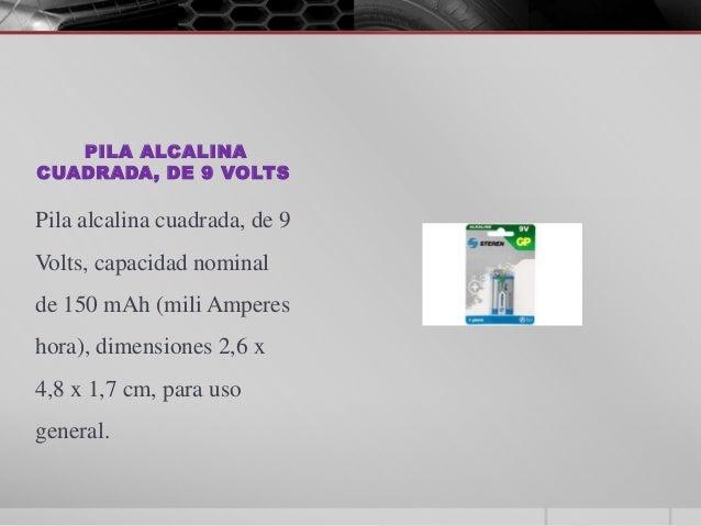 Presentaci n tipos de pilas y sus voltajes - Tipos de pilas alcalinas ...
