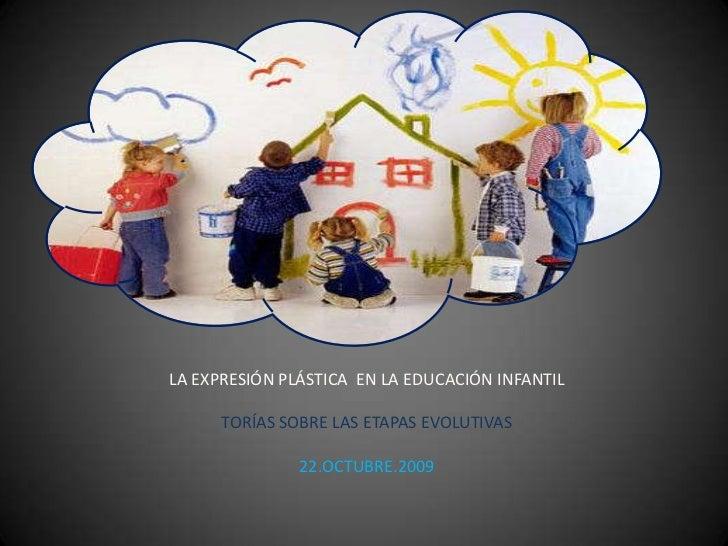 LA EXPRESIÓN PLÁSTICA  EN LA EDUCACIÓN INFANTIL<br />TORÍAS SOBRE LAS ETAPAS EVOLUTIVAS<br />22.OCTUBRE.2009<br />