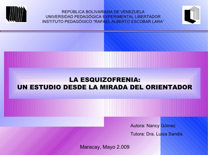 "REPÚBLICA BOLIVARIANA DE VENEZUELA UNIVERSIDAD PEDAGÓGICA EXPERIMENTAL LIBERTADOR INSTITUTO PEDAGÓGICO ""RAFAEL ALBERTO ESC..."