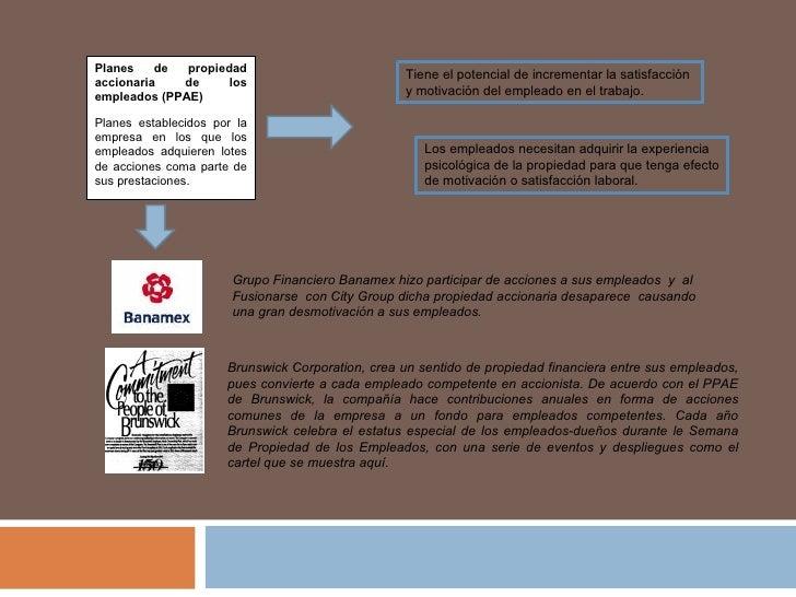 Planes de propiedad accionaria de los empleados (PPAE) Planes establecidos por la empresa en los que los empleados adquier...