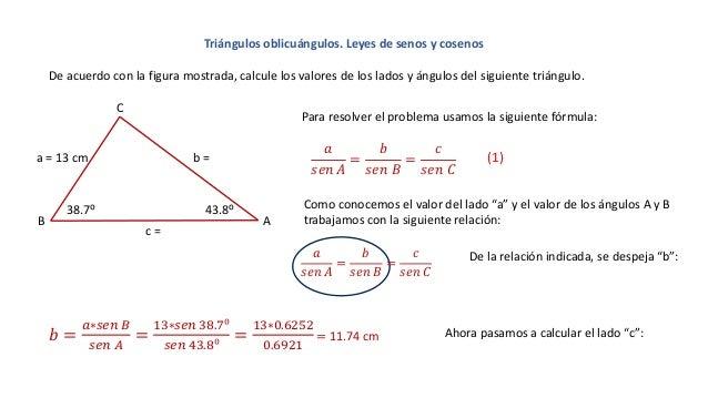 Populares Leyes de senos. Triángulos oblicuángulos. DJ01