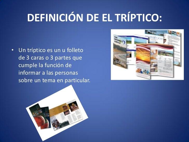 Presentaci n tripticos en el aprendizaje for Origen y definicion de oficina