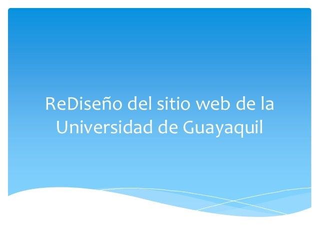 ReDiseño del sitio web de la Universidad de Guayaquil