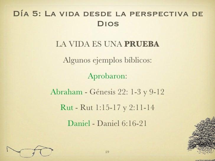 <ul><li>LA VIDA ES UNA  PRUEBA </li></ul><ul><li>Algunos ejemplos bíblicos: </li></ul><ul><li>Aprobaron : </li></ul><ul><l...