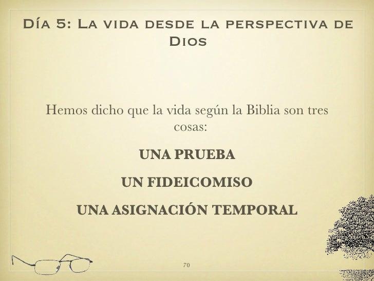 <ul><li>Hemos dicho que la vida según la Biblia son tres cosas:   </li></ul><ul><li>UNA PRUEBA </li></ul><ul><li>UN FIDEIC...
