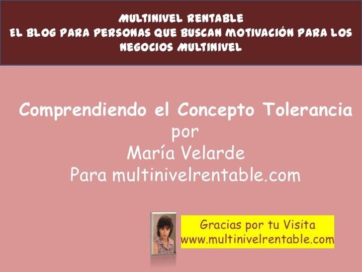 Multinivel RentableEl Blog Para Personas que buscan motivación para los                 Negocios Multinivel Comprendiendo ...
