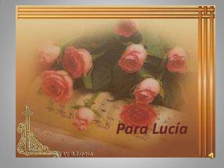 Para Lucía<br />