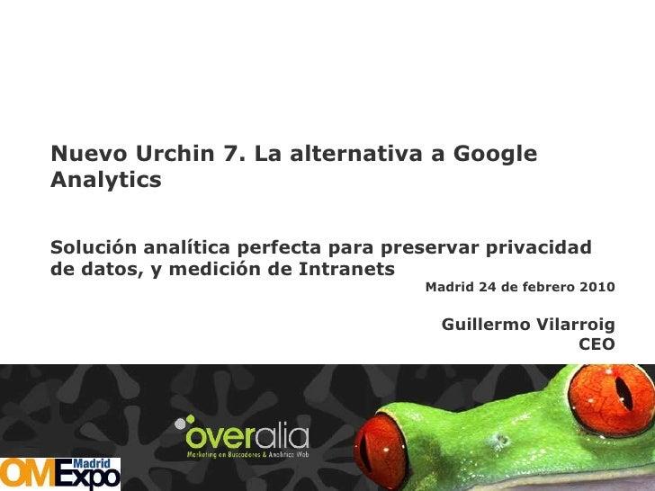 Nuevo Urchin 7. La alternativa a Google Analytics  Solución analítica perfecta para preservar privacidad de datos, y medic...