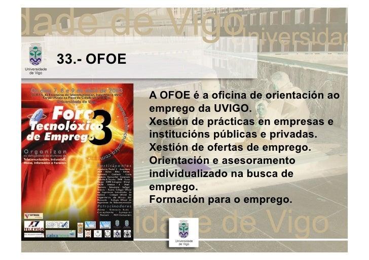Presentaci n uvigo 09 10 for Oficina de emprego galicia