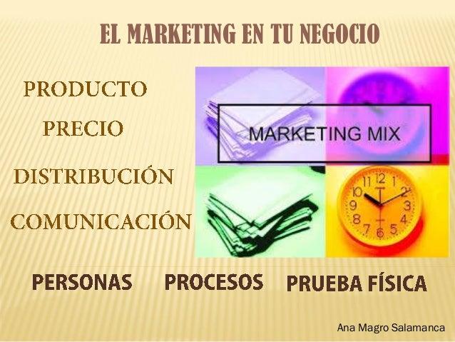 EL MARKETING EN TU NEGOCIO Ana Magro Salamanca