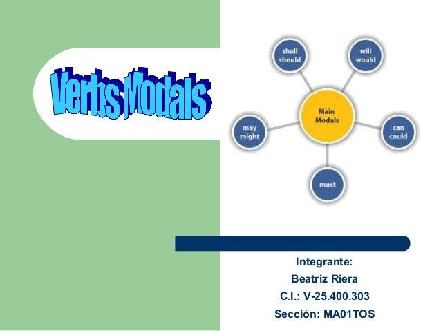 Integrante: Beatriz Riera C.I.: V-25.400.303 Sección: MA01TOS