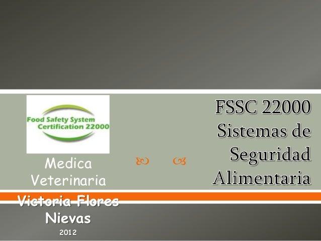  Medica Veterinaria Victoria Flores Nievas 2012