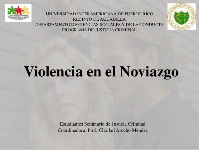 UNIVERSIDAD INTERAMERICANA DE PUERTO RICO  RECINTO DE AGUADILLA  DEPARTAMENTO DE CIENCIAS SOCIALES Y DE LA CONDUCTA  PROGR...