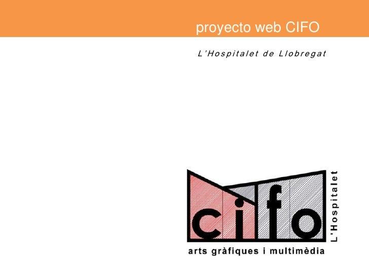 proyecto web CIFO<br />L'Hospitalet de Llobregat<br />