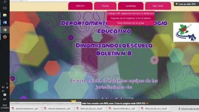 """I  l """"a  I ° I Ebunva ) ,        _. —    if           ' _ M _ ' X Cmn un sitio WiX D INICIO l Flores J Lavalle1a  San Jose..."""
