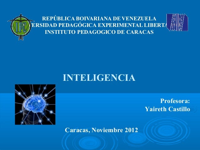 REPÚBLICA BOIVARIANA DE VENEZUELAUNIVERSIDAD PEDAGÓGICA EXPERIMENTAL LIBERTADOR        INSTITUTO PEDAGOGICO DE CARACAS    ...