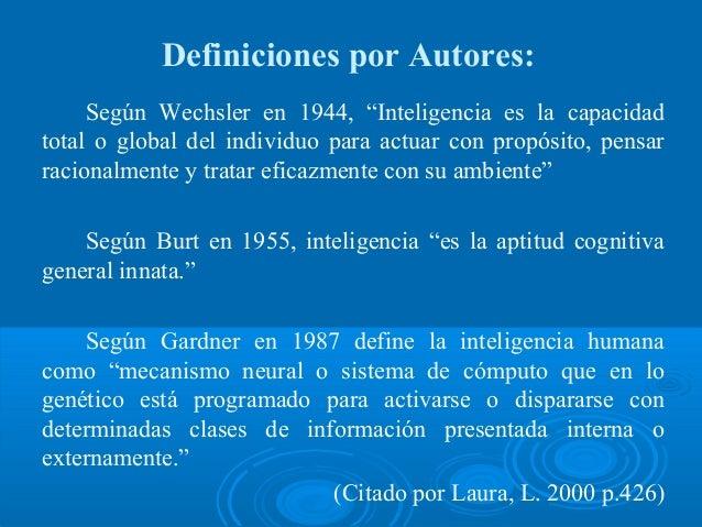 Definiciones Inteligencia Slide 2