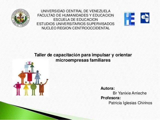 UNIVERSIDAD CENTRAL DE VENEZUELA FACULTAD DE HUMANIDADES Y EDUCACION         ESCUELA DE EDUCACION ESTUDIOS UNIVERSITARIOS ...