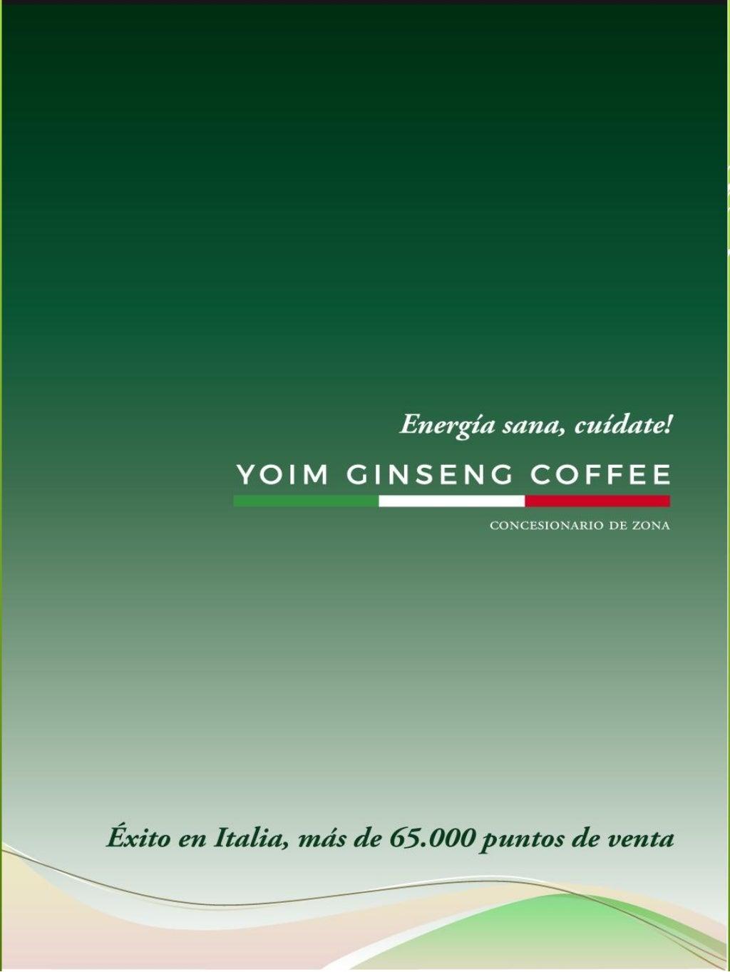 Presentación www.yoimginsengcoffee.com