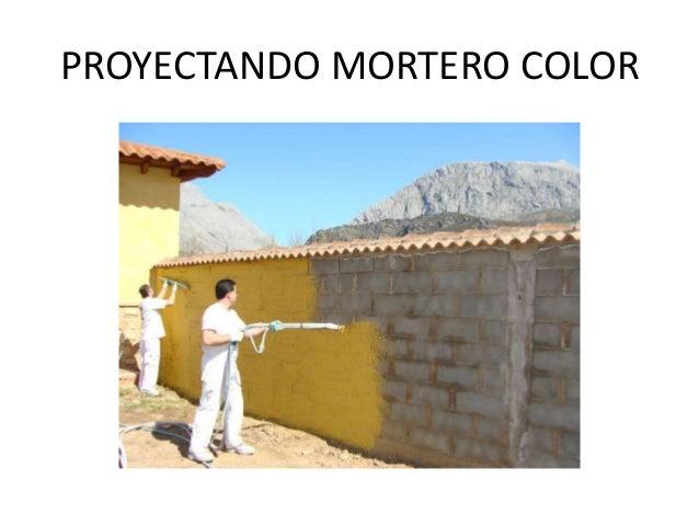 Yesonor yesos morteros y aislamiento termoac stico en le n - Mortero monocapa colores ...