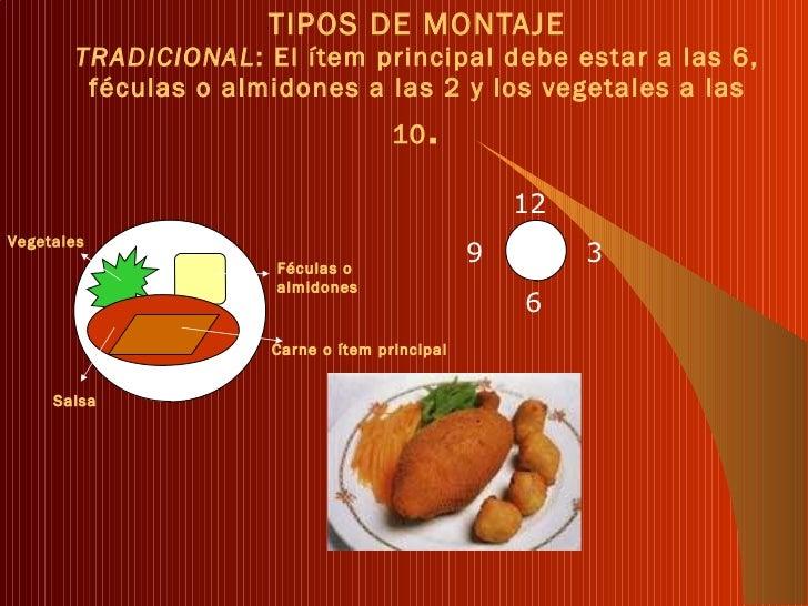 Presentaci n y montaje de platos for Tipos de platos