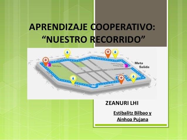 """APRENDIZAJE COOPERATIVO: """"NUESTRO RECORRIDO"""" ZEANURI LHI ZEANURI LHI Estibalitz Bilbao y Ainhoa Pujana"""