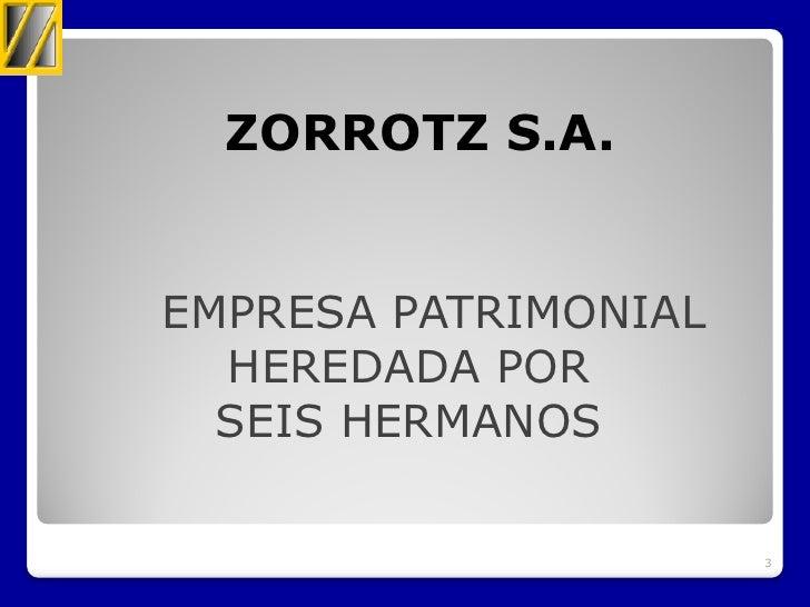 Asamblea ASLE 2012 Zorrotz, S.A.L. Slide 3