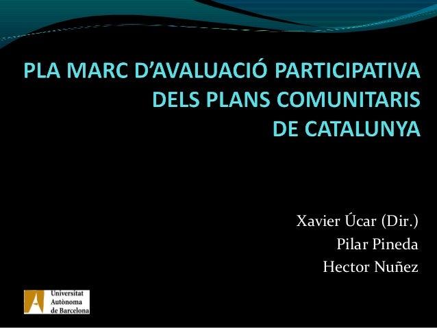 Xavier Úcar (Dir.)Pilar PinedaHector NuñezGrup d'Anàlisi de Polítiques Educatives i de Formació –GAPEF-Grup Interuniversit...