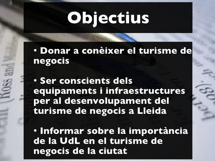 Universitat d'Estiu 2010 Curs Turisme a Lleida. Turisme de negocis Slide 2
