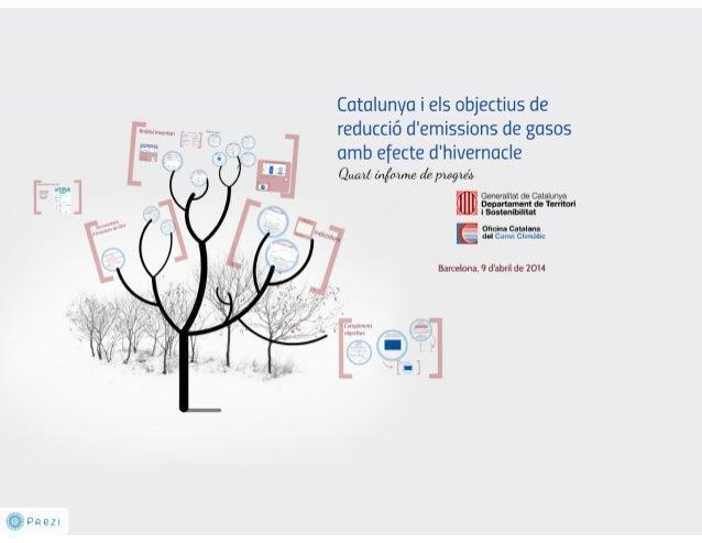 Presentació 4t informe progres a Catalunya sobre els objectius de Kyoto