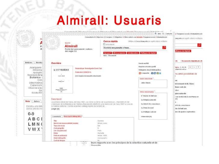 Almirall: Usuaris