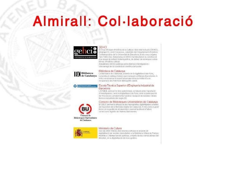 Almirall: Col·laboració