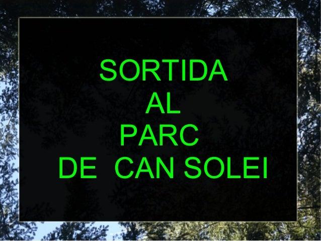SORTIDA AL PARC DE CAN SOLEI