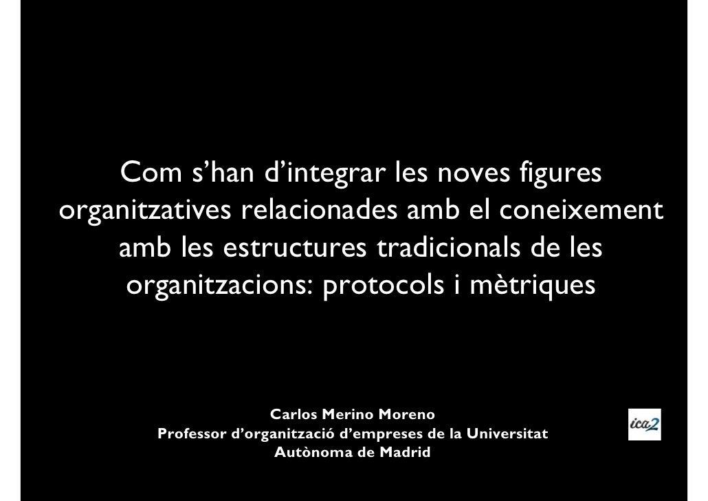 Com s'han d'integrar les noves figuresorganitzatives relacionades amb el coneixement    amb les estructures tradicionals d...