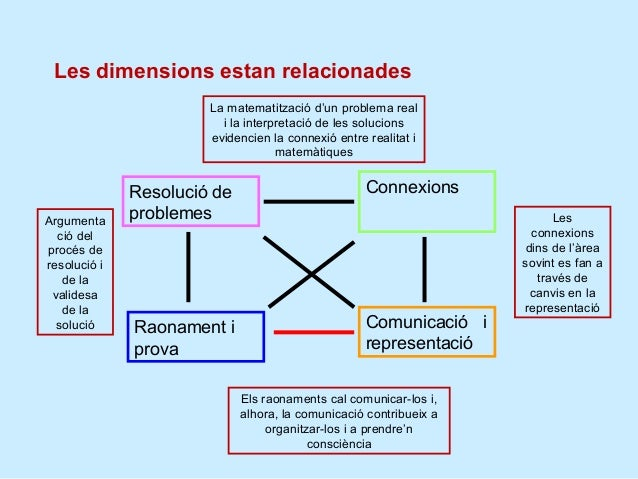 Relacions entre dimensions i competències          Resolució de            Connexions          problemes          Raonamen...