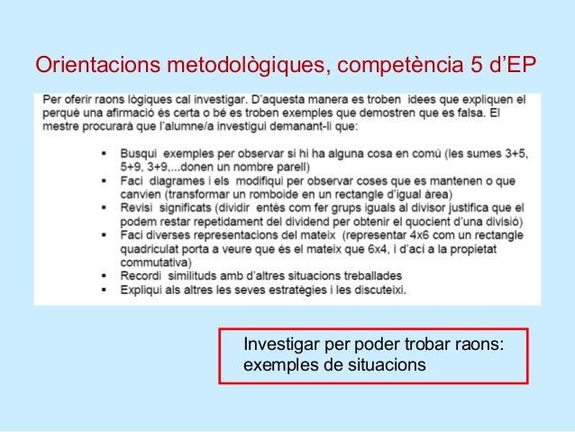 Consells metodològics