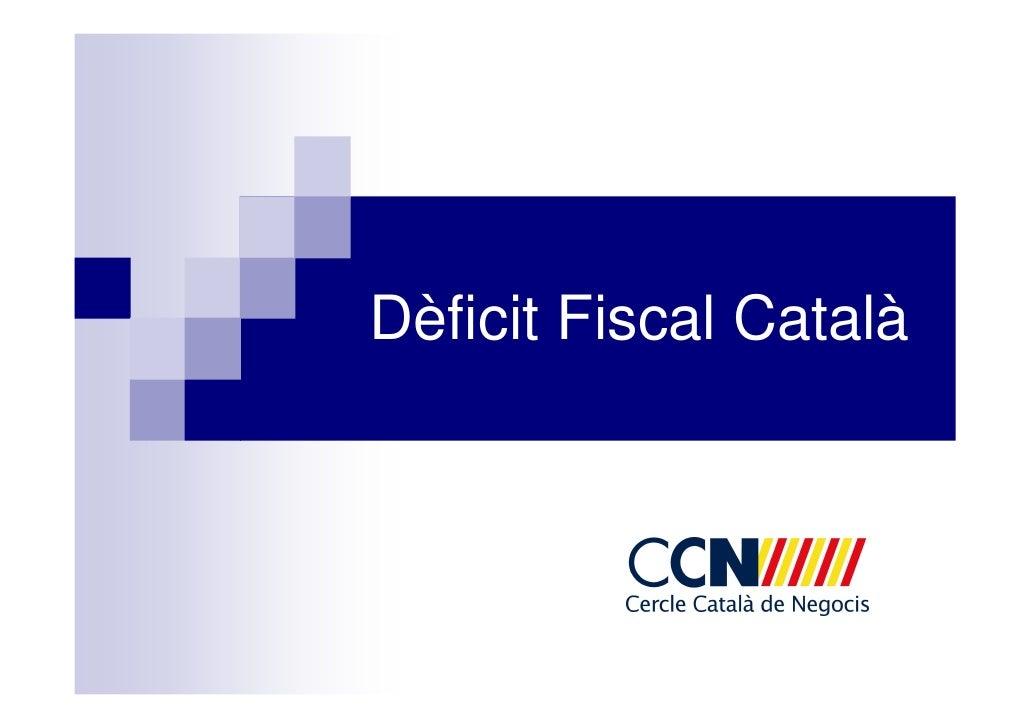 Dèficit Fiscal Català