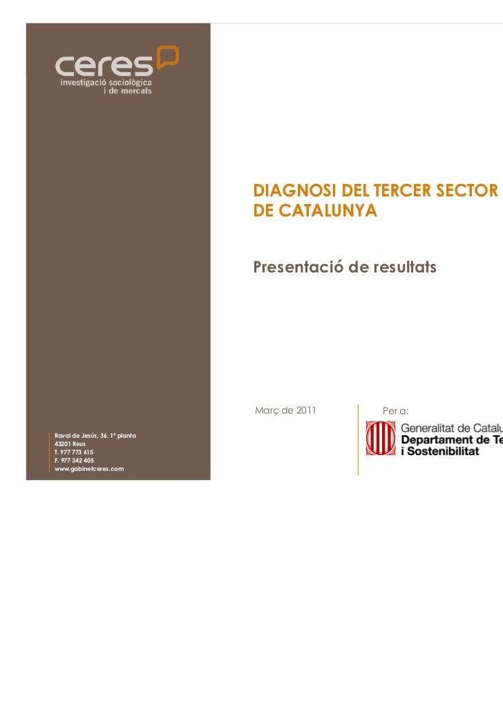 DIAGNOSI DEL TERCER SECTOR AMBIENTAL                                                          DE CATALUNYA                ...