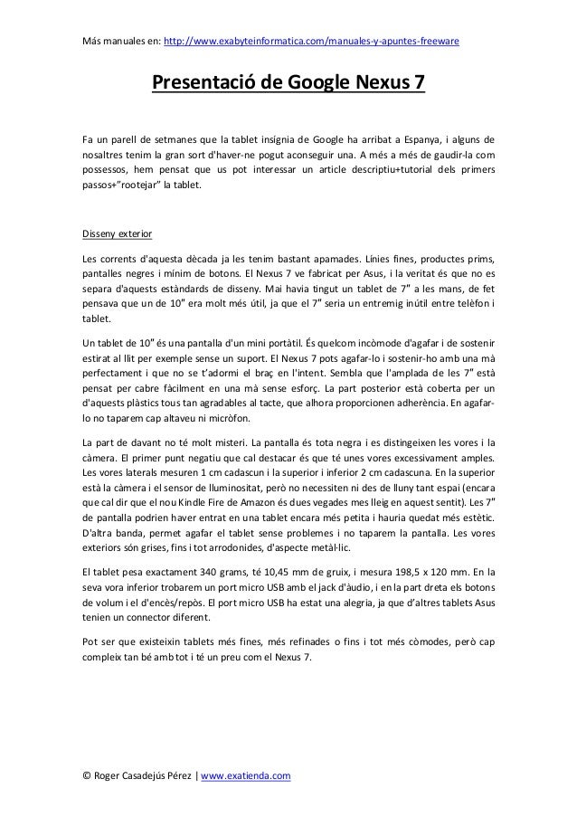 Más manuales en: http://www.exabyteinformatica.com/manuales-y-apuntes-freeware© Roger Casadejús Pérez | www.exatienda.comP...
